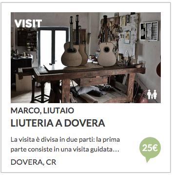 Liuteria a Dovera, Cremona. Prenota visita al laboratorio con Italian Stories