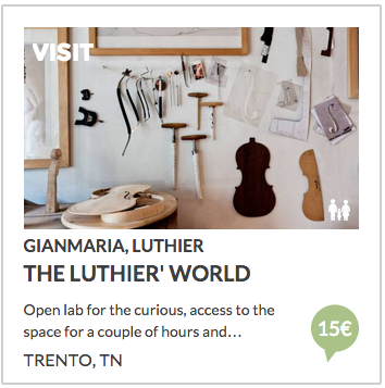 visit violin and cello luthier in trento